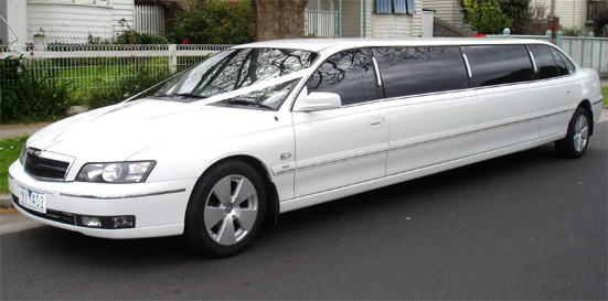 Holden stretch limousine white in colour