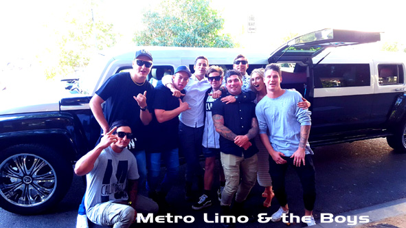 Metro Limo Hummer hire with the Boys
