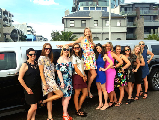 Melbourne hens night Hummer hire